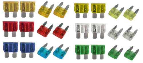 Xtremeauto® CAR BLADE FUSE REPLACEMENT Standard Fuse Box Kit 5 10 15 20 25 30 AMP includes Sticker from Xtremeauto