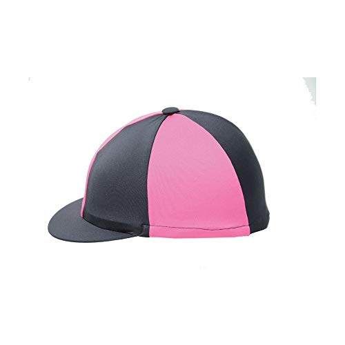 Y-H Hy Two Tone Lycra Silks - Ladies Kids Hat Helmet Cover Horse Pony Riding Equine from Y-H