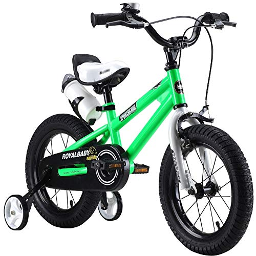 "Royalbaby Unisex Youth Freestyle boy's girl's stabilisers water bottle and holder Kids Children Child Bike Bicycle, Green, 12"" from Royal Baby"