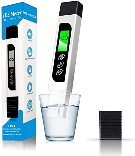 Water Quality Tester, Accurate TDS Meter EC Meter & Temperature Test Pen with Backlit LCD for Drinking Water, Hydroponics, Swimming Pools, Aquariums from YAMI