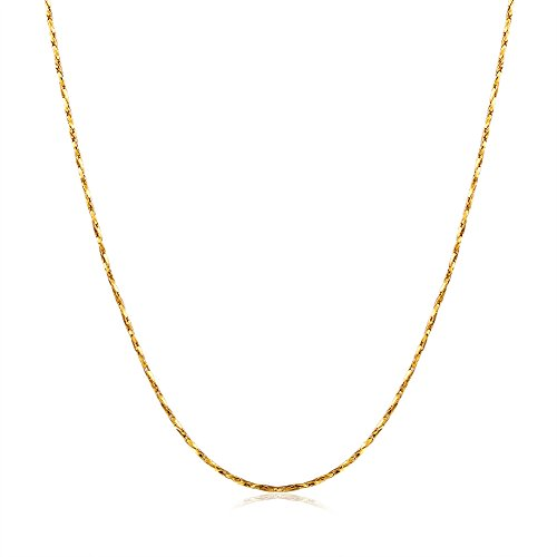 YAZILIND Jewelry Shining Exquisite Gold Plated Wear-Resisting Chain Necklace for Women and Girls from YAZILIND