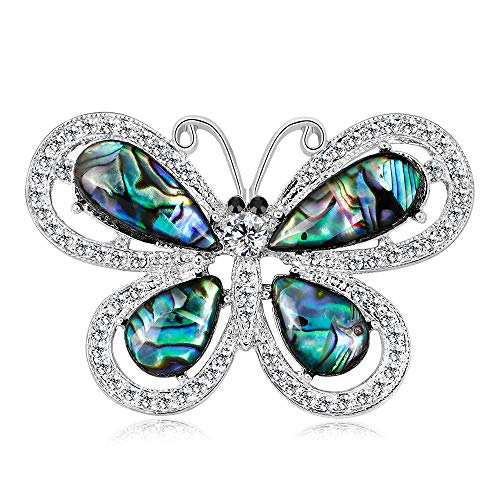 YAZILIND Sea Shell Brooch Butterfly Shape Alloy Collar Pins Corsage Jewellery for Women from YAZILIND