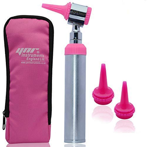 YNR® Otoscope Microscope Auriscope Conventional Diagnostic Examination Medical Ear Torch CE (Pink) from YNR