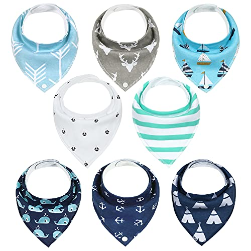 YOOFOSS Baby Bandana Dribble Bibs and Drool Bibs for Boys & Girls (Pack of 8) from YOOFOSS