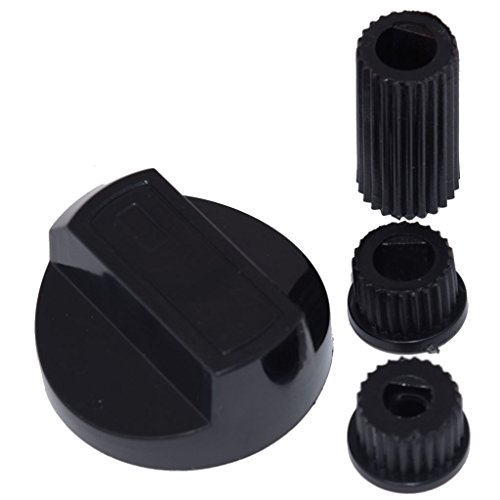 Yourspares for AEG, Ariston, Atag, Beko, Belling and Bosch Universal Cooker/Oven/Grill Control Knob and Adaptors Black from YOURSPARES