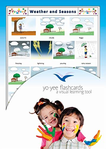 Yo-Yee Flashcards - Weather and Seasons Flash Cards - English Vocabulary Picture Cards for Toddlers, Kids, Children and Adults from Yo-Yee Flashcards