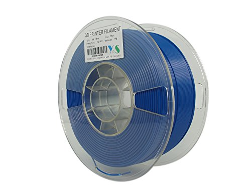 YS Filament YS-1.75-ABS-BU-1000 YS Tangle Free 3D Filament, ABS 1.75 mm, 1 kg, Accurate Diameter Control, Blue from YS Filament