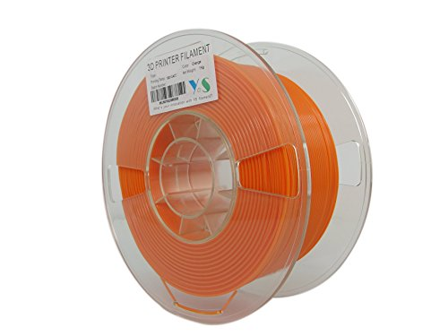 YS Filament YS-1.75-MABS-O-1000 YS Tangle Free 3D Filament, Modified ABS 1.75 mm, 1 kg, Less Warping Issue For Big Parts And High Strength, Orange from YS Filament