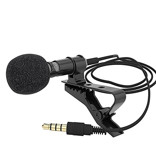 YYGIFT® Microphone Clip-on Omnidirectional Condenser Mic for iPhone iPad and Android Smartphones from YYGIFT