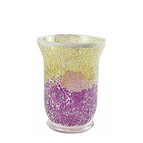 Yankee Candle Lantern Holder, Gold/Purple Transparent, Jar from Yankee Candle
