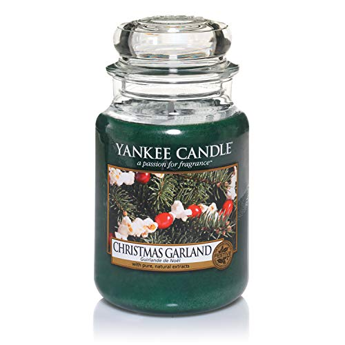 Yankee Candle Scented Candle | Christmas Garland Large Jar Candle | Burn Time: Up to 150 Hours from Yankee Candle