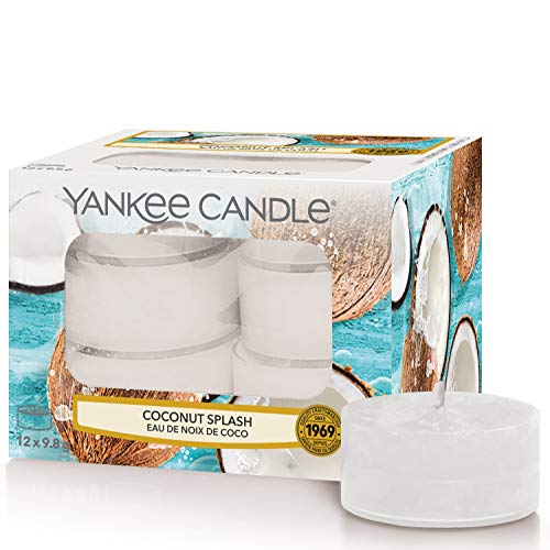 Yankee Candle Tea Light Scented Candles | Coconut Splash | 12 Count from Yankee Candle