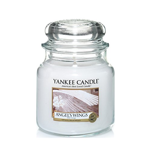 Yankee Candle Scented Candle | Angel's Wings Medium Jar Candle| Burn Time: Up to 75 Hours from Yankee Candle