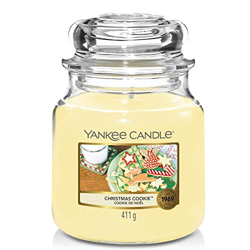 Yankee Candle Scented Candle | Christmas Cookie Medium Jar Candle| Burn Time: Up to 75 Hours from Yankee Candle