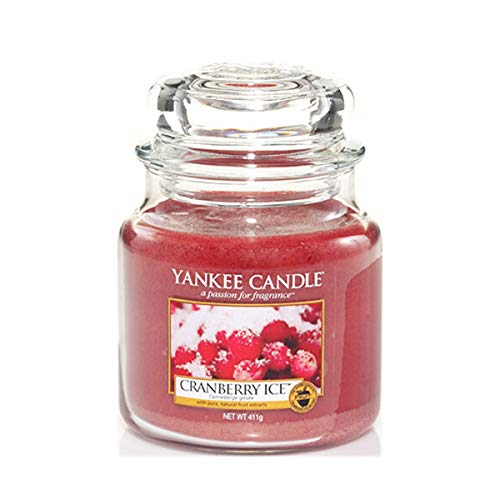 Yankee Candle Scented Candle | Cranberry Ice Medium Jar Candle| Burn Time: Up to 75 Hours from Yankee Candle