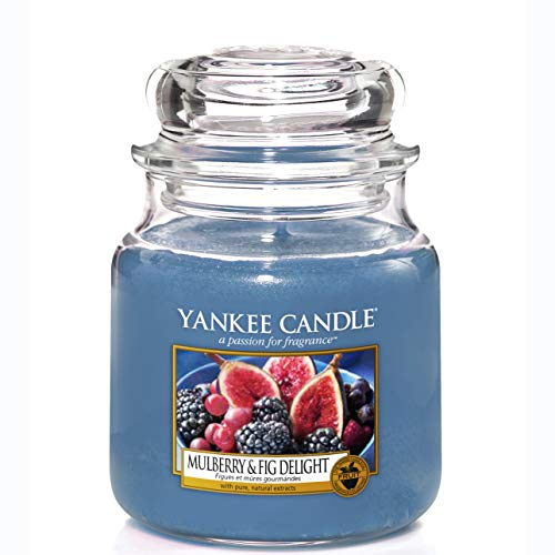 Yankee Candle Scented Candle | Mulberry and Fig Delight Medium Jar Candle| Burn Time: Up to 75 Hours from Yankee Candle
