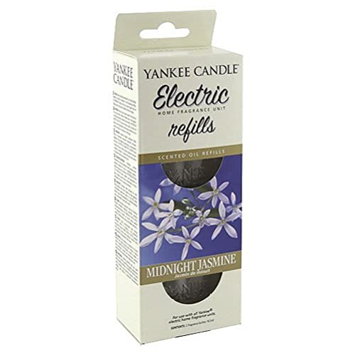 Yankee Candle ScentPlug Air Freshener Refill, Midnight Jasmine, Glass, White, EHF Refill Twin Pack from Yankee Candle