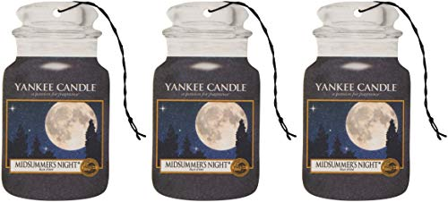 Yankee Candle Car Jar Scented Air Freshener, Midsummer's Night, Three Count from Yankee Candle