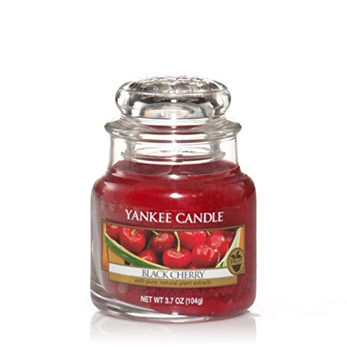 Yankee Candle Scented Candle | Black Cherry Small Jar Candle | Burn Time: Up to 30 Hours from Yankee Candle