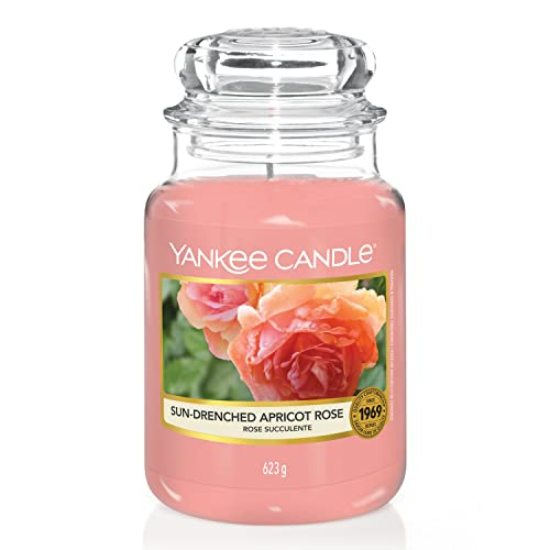 Yankee Candle Scented Candle | Sun-Drenched Apricot Rose Large Jar Candle | Burn Time: Up to 150 Hours from Yankee Candle