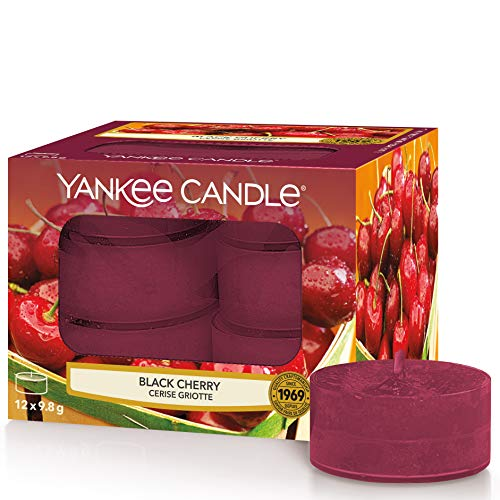 Yankee Candle Tea Light Scented Candles | Black Cherry | 12 Count from Yankee Candle
