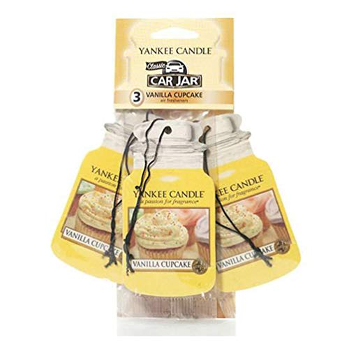 Yankee Candle Car Jar Scented Air Freshener, Vanilla Cupcake, Three Count from Yankee Candle