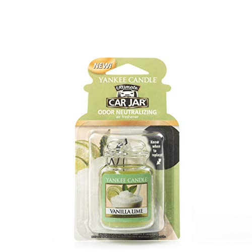 Yankee Candle 1220892E Car Freshener, Car Jar Ultimate, Vanilla Lime from Yankee Candle