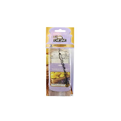Yankee Candle 1137673E Car Freshener, Car Jar Bonus 3 Pack, Lemon Lavender from Yankee Candle