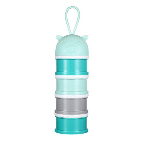 YeahiBaby Milk Powder Dispenser Portable Snack Storage Container for Travel Camping Blue from YeahiBaby