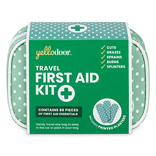 84 Piece vintage inspired mini first aid kit by Yellodoor (Green (Vintage Spot)) Perfect small and light size for carrying with you from Yellodoor