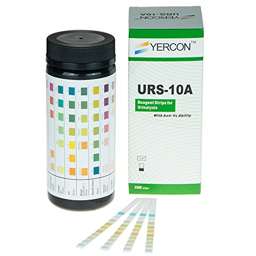 Yercon Urine Infection Test 10 Parameter Urine Dip Test (100 Test Strips per Pack) from Yercon