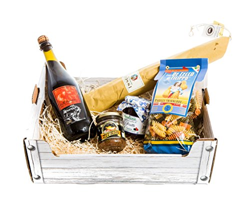 Christmas Gift Hamper Italian Fine Food with Salame Felino I.G.P. - Traditional Italian Pleasure - 5 Items from YesEatIs