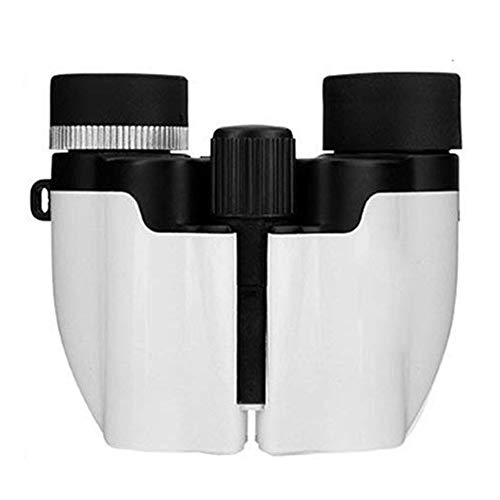 YingStar 10x22 Compact Folding Binoculars Telescope For Adults Kids Football Bird Watching Concerts Travelling Hunting Climbing Hiking Sightseeing - White from YingStar
