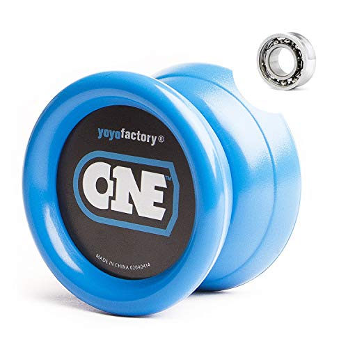 YoyoFactory ONE Yo-Yo - Blue (modern spinning yoyo, beginner to pro, 2 different level ball-bearings included, comes with string) from YOYO FACTORY