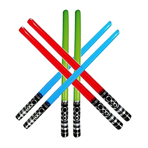 Yojoloin 6PCS Inflatable Party Balloons Star War Light Sabre Sword Stick Balloons For Halloween Party Supplies Costume Fancy Dress Party Favors Balloons 80s Photo Booth Props (6 PCS) from Yojoloin