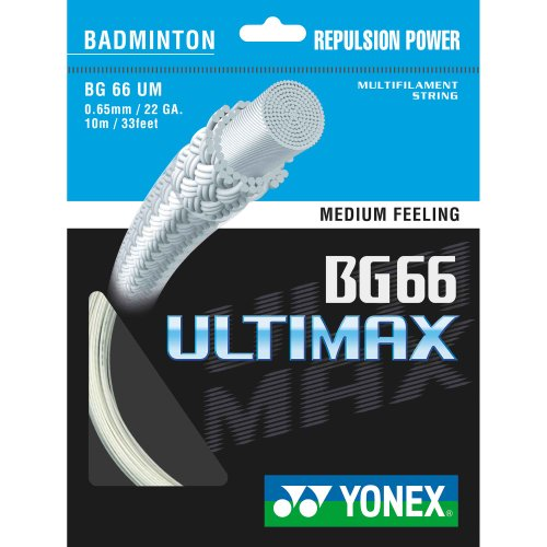 YONEX BG-66 Ultimax Badminton String - 10m Set, Colors- White from YONEX