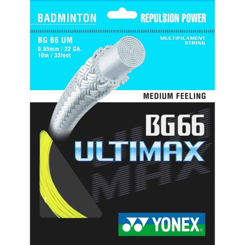 YONEX BG-66 Ultimax Badminton String - 10m Set, Colors- Yellow from YONEX