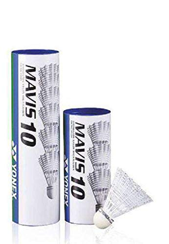 Yonex Mavis 10 Badminton Shuttlecocks - Tube of 6, Color - White from Yonex