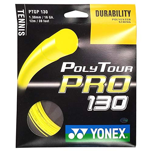 Yonex Poly Tour Pro String Set - Yellow, 1.2 mm from Yonex