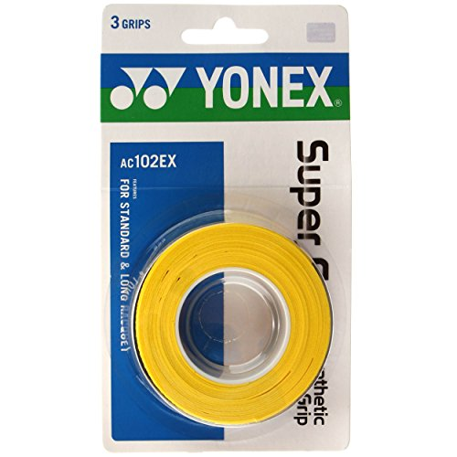 Yonex Super Gelb Overgrip 3,Yellow, One Size from YONEX