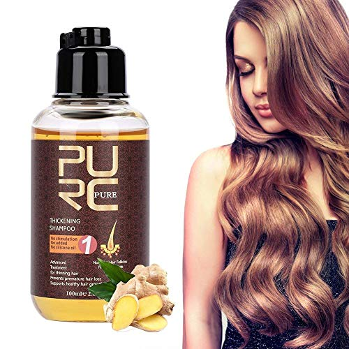 Hair Growth Shampoo, 100ml Professional Hair Care Thickening Shampoo Strenghten Hair Loss Accelerator, Stimulates Hair Re-growth, For Men & Women from TMISHION