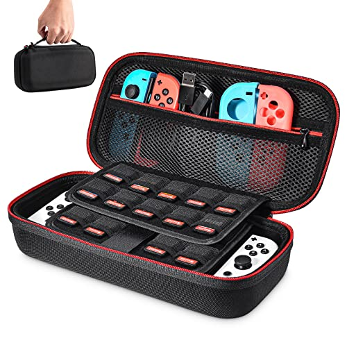 Case for Nintendo Switch- Younik Upgrade Version Hard Travel Carrying Case with Larger Storage Space for 19 Game Cartridges and Other Nintendo Switch Accessories from Younik