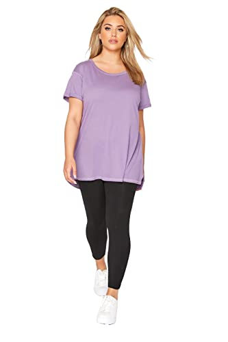 "Yoursclothing Plus Size Womens Viscose Elastane Leggings Size 28"" / 18 Black from Yours Clothing"