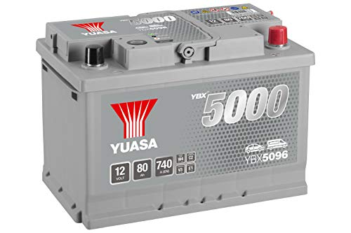 Yuasa YBX5096 High Performance Starter Battery, Silver from Yuasa