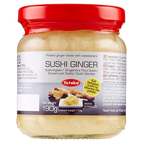 Pickled Sushi Ginger, 190g from Yutaka