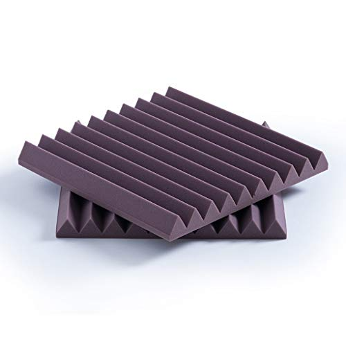 Fire Prevention Acoustic Panels, Metope Indoor Environmental Protection Bedroom Household Recording Studio Piano Room Sound-absorbing Cotton (color : PURPLE) from Z-XIYIN