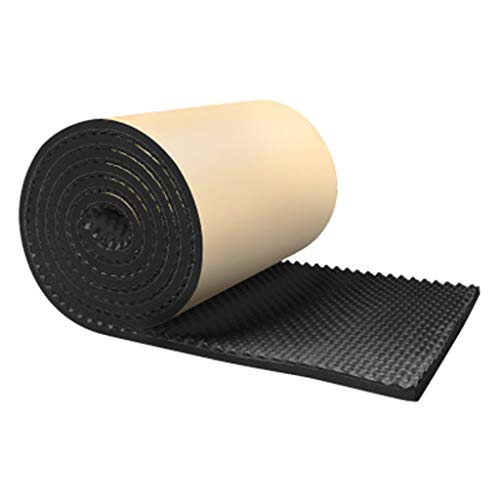 Indoor Acoustic Panels, Drum Room KTV Sound Absorbing Sponge Self-sticking Recording Studio Studio Household Sound-absorbing Cotton (color : BLACK-3CM) from Z-XIYIN