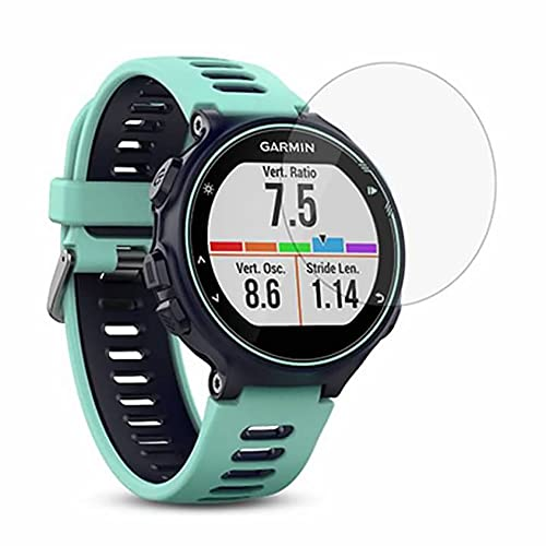 ZEDACA 9H 2.5D Ultra Clear Anti Scratch Anti Fingerprint and Oil Stain No Bubbles Watch Tempered Glass Protector Film for Garmin Forerunner 735XT from ZEDACA