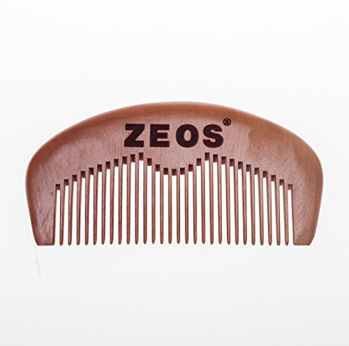ZEOS For Men Pocket Size Wooden Beard Comb from ZEOS