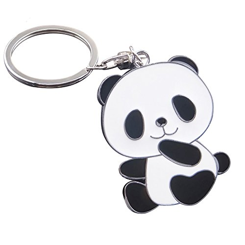 ZHOUBA Fashion Lovely Panda Metal Keyring Keychain Car Key Holder Bag Pendant Gift from ZHOUBA